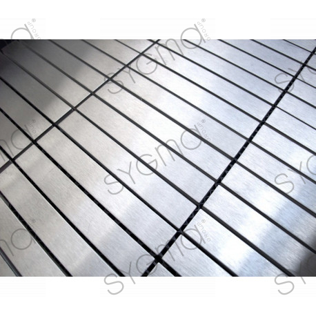 Sample mosaic stainless credence cooking shower liner 100 - Credence inox adhesive ...