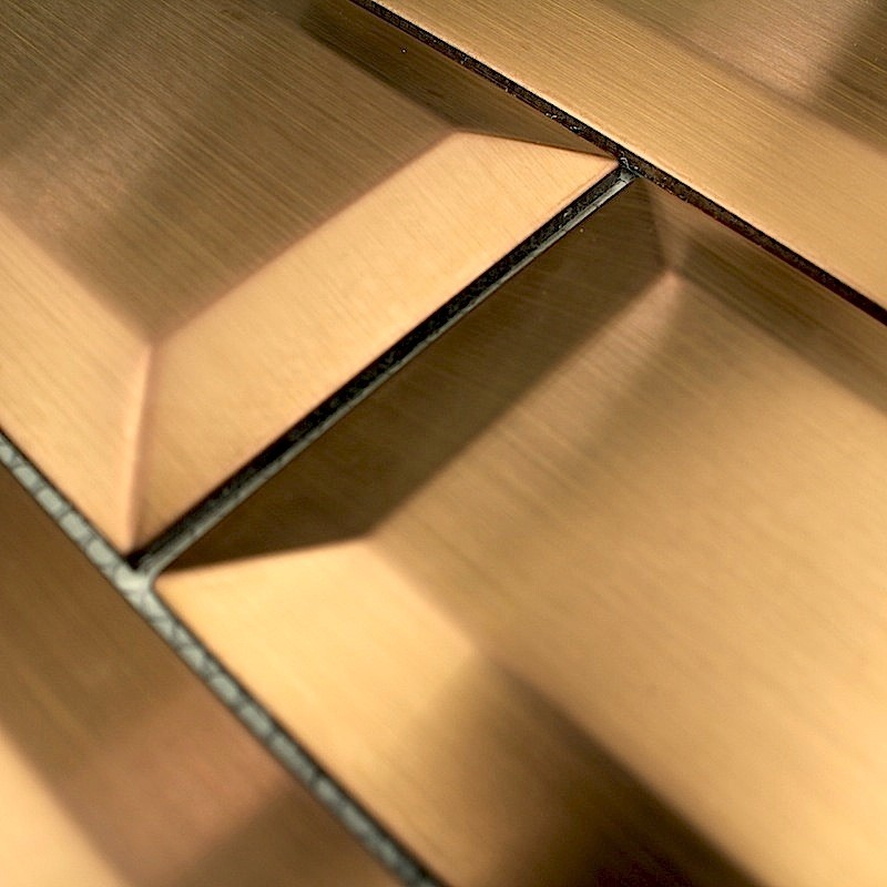 sample mosaic stainless credence cuisine metro copper - carrelage ...