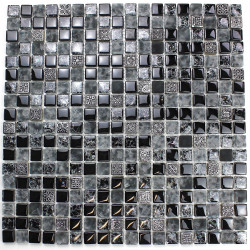 Glass mosaic and stone for bathroom and kitchen mvp-shiro