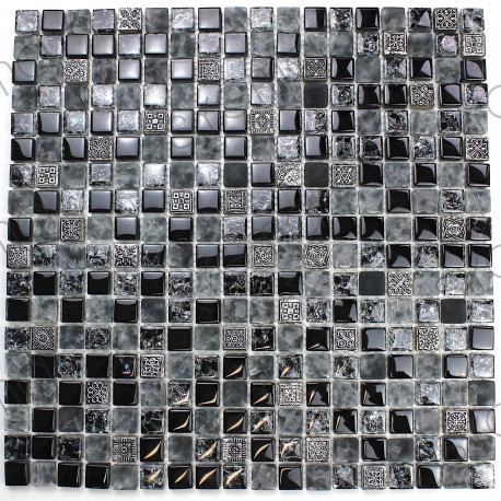 Glass mosaic and stone for bathroom and kitchen Osana