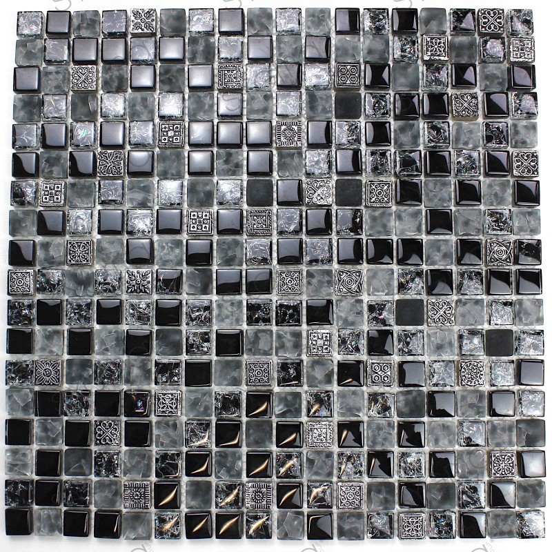 Tile mosaic stone and glass cheap mvp shiro carrelage for Carrelage inox fr