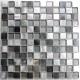 Mosaique aluminium et verre cuisine crédence HEHO