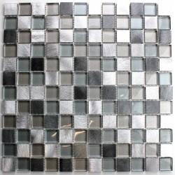 Mosaico de aluminio y vidrio modelo HEHO