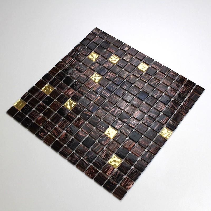 Azulejos mosaicos de vidrio para cocina y bano goldline for Mosaico para cocina