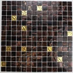 Mosaique carrelage pate de verre modele goldline-vog