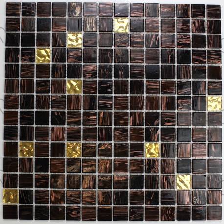 Mosaique pate de verre modele goldline-vog