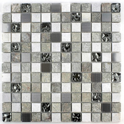 Stone mosaic quartz floor and wall shower and bathroom mp-swiri