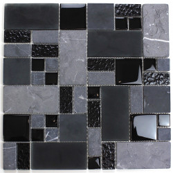 Mosaico azulejo de vidrio y piedra pared y suelo mvp-shadow