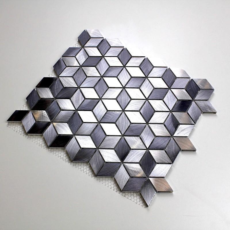 mosaique aluminium sol et mur cr dence et salle de bain. Black Bedroom Furniture Sets. Home Design Ideas