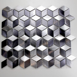 Mosaique aluminium sol et mur crédence et salle de bain modele hiba