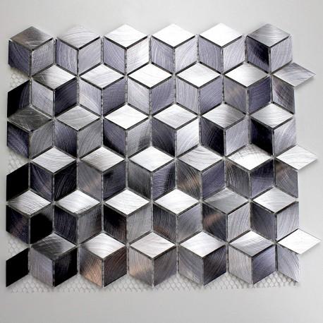 Mosaique aluminium sol et mur cr dence et salle de bain for Sol mosaique salle de bain