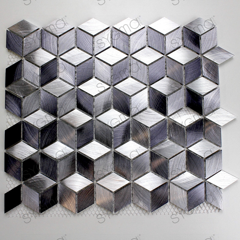 Mosaico de aluminio pared y suelo cocina y bano modelo for Mosaico para bano precios
