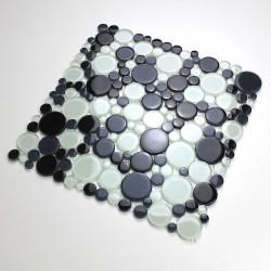 Mosaique galets en verre sol ou mur modele mv-ronda