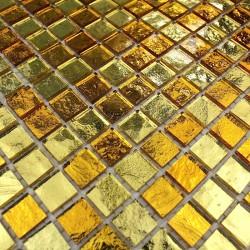 Azulejo mosaico de vidrio bano y ducha Strass Gold