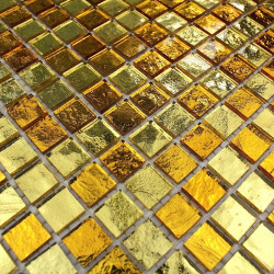 Mosaique salle de bain et douche mv-glossgold
