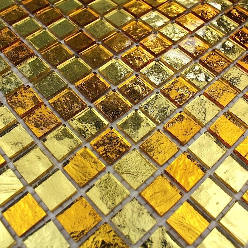 Mosaique salle de bain et douche mv-glossgold - carrelage-inox.fr