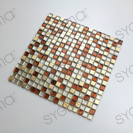 Mosaic stone and glass bathrrom and shower Otika
