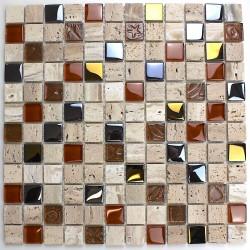carrelage mosaique sol et mur en verre et pierre  mp-malika