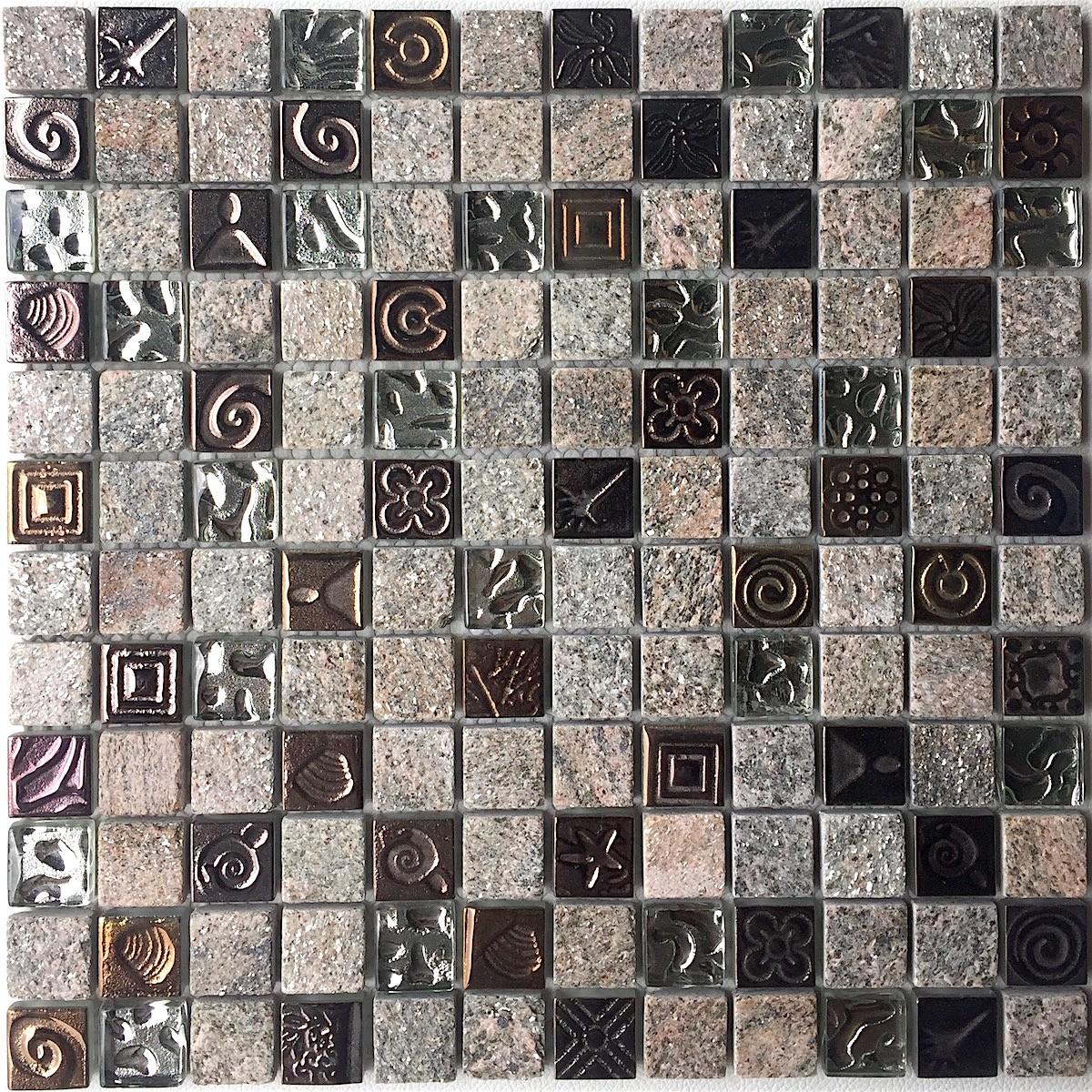 Mosaique pierre quartz sol et mur douche et salle de bain mp
