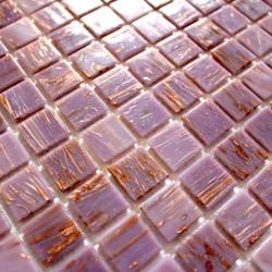 Mosaique pate de verre sol et mur modele vitro-violet