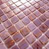 Mosaique pate de verre douche salle de bain vitro-rose