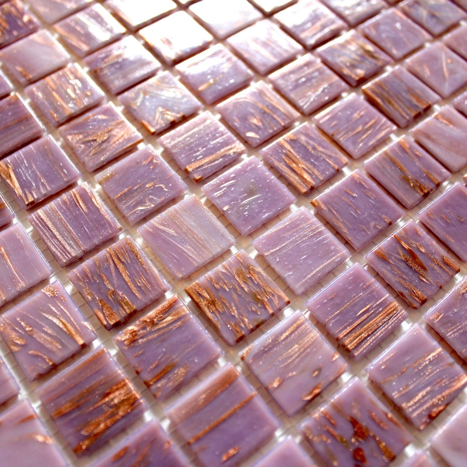 Salle De Bain Mosaique Rose ~ mosaique pate de verre douche salle de bain vitro rose carrelage
