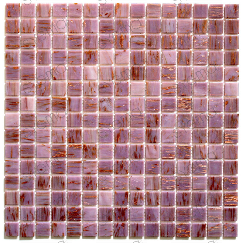 Azulejos mosaicos de vidrio para ducha y bano vitro rose - Azulejos para mosaicos ...