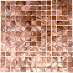 Mosaico azulejo de nacar odyssee-marron