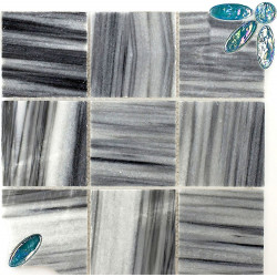 Marble tile mosaic black floor mp-carmi