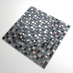 Mosaic stone and glass tile floor shower mvp galb for Carrelage mosaique castorama