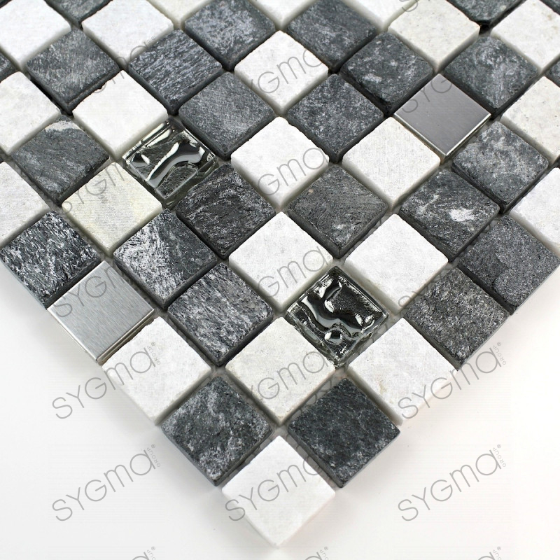 carrelage pierre mosaique quartz bicolore mp ethno