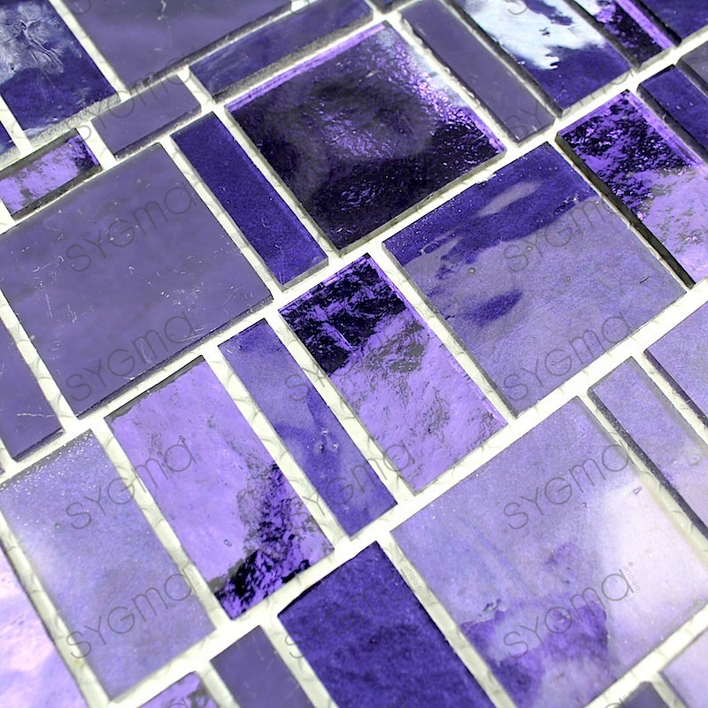 plaque mosaique verre murale salledebain et douche pulp violet carrelage. Black Bedroom Furniture Sets. Home Design Ideas