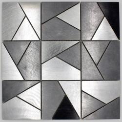 carreaux mosaique metal mur credence cuisine sierra