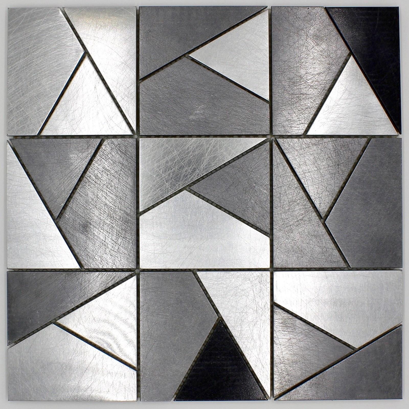 Credence En Gres Cerame carreaux mosaique metal mur credence cuisine sierra