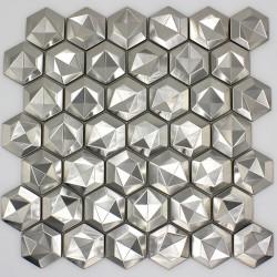 tile mosaic metal bathroom wall backsplash kitchen dandelion