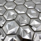 tile mosaic metal bathroom wall backsplash kitchen Kami