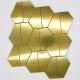 golden mosaic tiles kitchen and bathroom cedar-gold