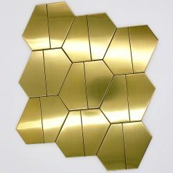 golden mosaic tiles kitchen and bathroom Kyoko Or