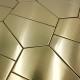 carrelage mosaique dore cuisine et salle de bain cedar-gold