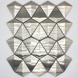 wall tile, mosaic stainless steel, kitchen and bathroom in-arrow