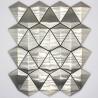 azulejo de pared mosaico de acero inoxidable cocina y baño arrow
