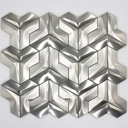 azulejo de la pared de ducha mosaico de acero inoxidable cocina y baño