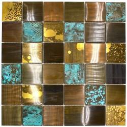 Baldosas metal bronce  mosaico cocina y sala de baño velvet