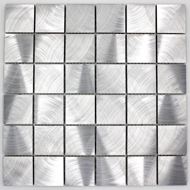 Mosaique aluminium carrelage cuisine cr dence alu reg 48 carrelage - Credence cuisine alu ou inox ...