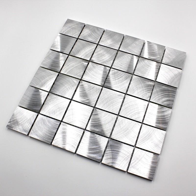 Mosaique aluminium carrelage cuisine cr dence alu reg 48 - Credence cuisine alu ou inox ...