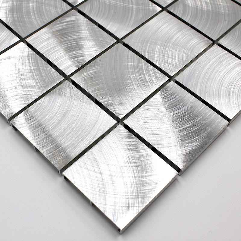 Mosaique aluminium carrelage cuisine cr dence alu reg 48 for Credence aluminium