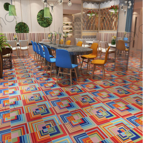 Patchwork carrelage imitation ciment en ceramique karat