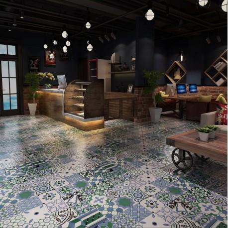 patchwork tile ceramic imitation cement limana carrelage. Black Bedroom Furniture Sets. Home Design Ideas