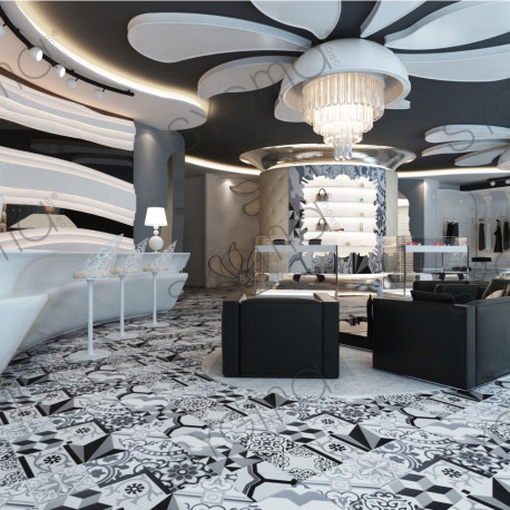 patchwork carrelage imitation ciment en ceramique luzern gris carrelage. Black Bedroom Furniture Sets. Home Design Ideas