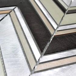 echantillon mosaique en aluminium modele alu-theko